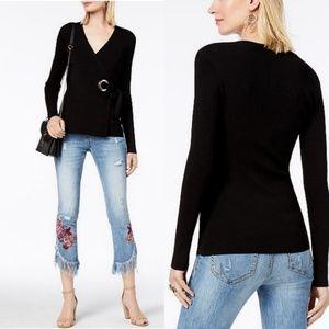 🆕️INC International Concepts Grommet Wrap Sweater